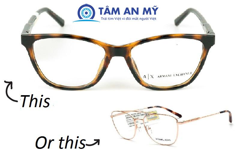 Tư vấn: Nên đeo kính gọng nhựa hay kim loại?